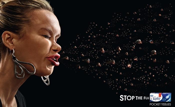 Print Ads นี้กำลังเตือนคุณว่า ฮัดเช้ยยย! จะจามแต่ละครั้ง อย่าลืมปิดปาก