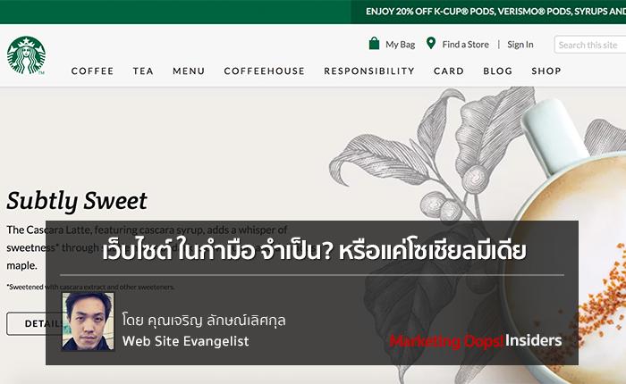 เว็บไซต์ ในกำมือ จำเป็นหรือแค่โซเชียลมีเดีย