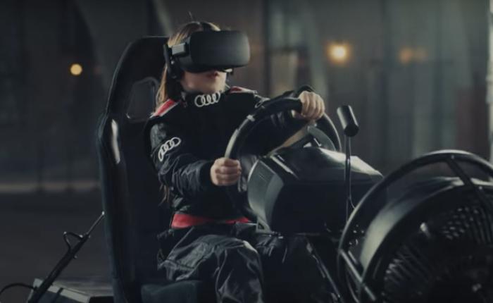 Audi โปรโมทรถแรงกับลูกค้าวัยเยาว์ เปลี่ยนรถของเล่นในกระบะทราย ให้ขับขี่ได้ผ่านแว่นตา VR