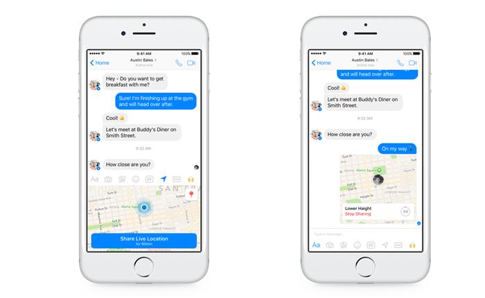 อัปเดทล่าสุด Facebook เปิดให้ผู้ใช้แชร์โลเคชั่นบน Messenger ได้แล้ว