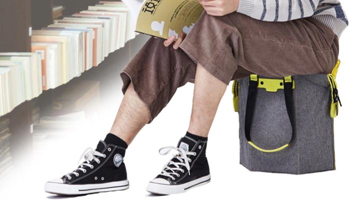 พ่อบ้านใจกล้ามีเฮ!! หมดยุคถือกระเป๋ารอภรรยาช็อปปิ้ง เมื่อเราสามารถนั่งบนกระเป๋าถือได้แล้ว #Seatbag
