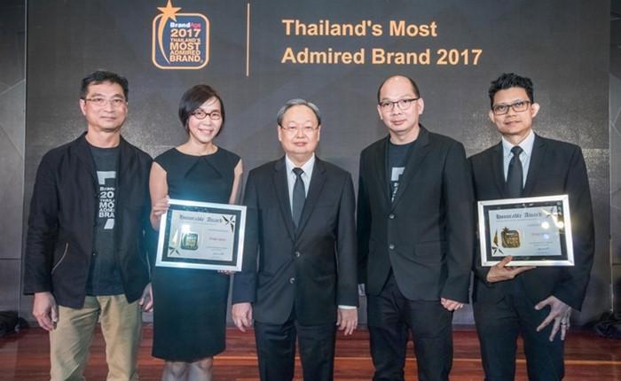 ทรูออนไลน์และทรูวิชั่นส์ คว้ารางวัล Thailand's Most Admired Brand 2017 แบรนด์ที่ครองใจผู้บริโภคชาวไทยมากที่สุด