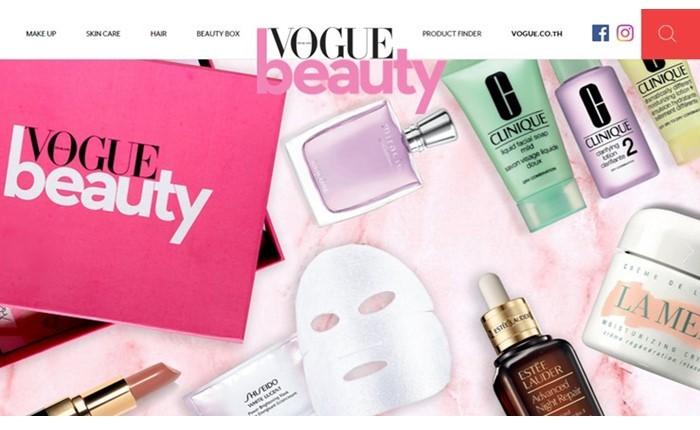 """""""โว้ก ไทยแลนด์"""" เปิดตัว Vogue Beauty Site รุกหนักตลาดความงามออนไลน์ ตอบรับกระแสเทรนด์ดิจิทัลที่มาแรงอย่างต่อเนื่อง"""
