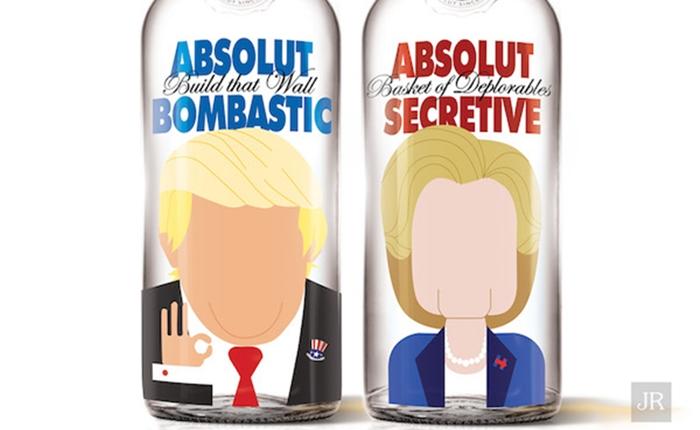 เก๋ป่ะล่ะ! ดีไซน์ขวด Absolut Vodka ให้เป็นใบหน้านักการเมือง
