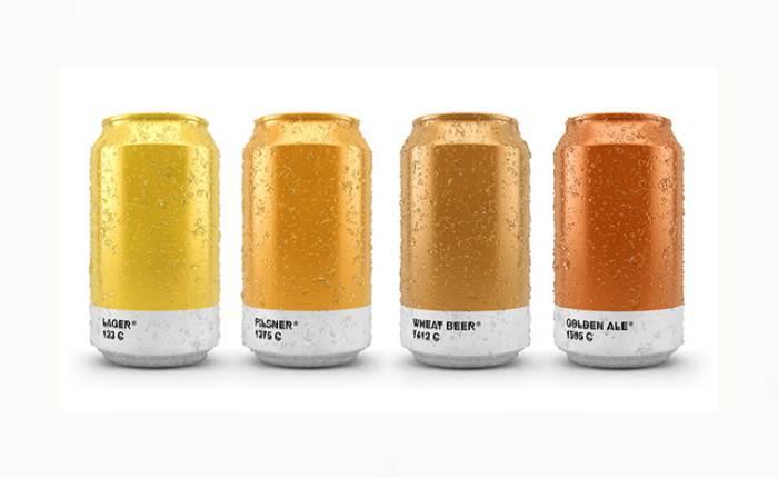 """จะเป็นอย่างไร…หาก """"เบียร์"""" ดีไซน์แพคเกจจิ้งด้วยแพนโทนสีเดียวกับเบียร์ในกระป๋อง"""
