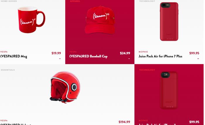ชวนดูสินค้าที่เข้าร่วมโครงการวิจัยโรคเอดส์ ไม่ได้มีแค่ iPhone 7 สีแดงนะ