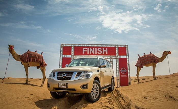 """Nissan กระตุ้นตลาดประเทศแถบทะเลทราย สร้างปรากฏการณ์ใหม่มาตรวัดความแรงเครื่องยนต์ด้วย """"พลังแรงอูฐ"""""""