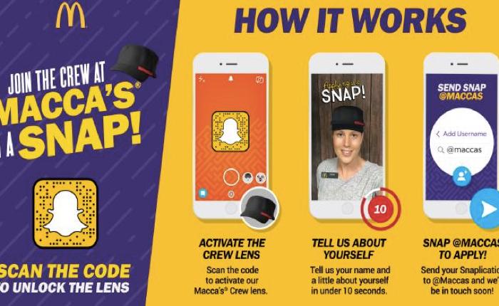 แมคโดนัลด์ใช้ Snapchat รับสมัครพนักงานรุ่น Millenianls แบบด่วนสุดๆ ใน 10 วินาที!