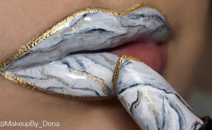 สาวๆ ต้องตามให้ทันเทรนด์ใหม่ทาปากด้วยลิปสติกลายหินอ่อน! หลุดว่อน IG
