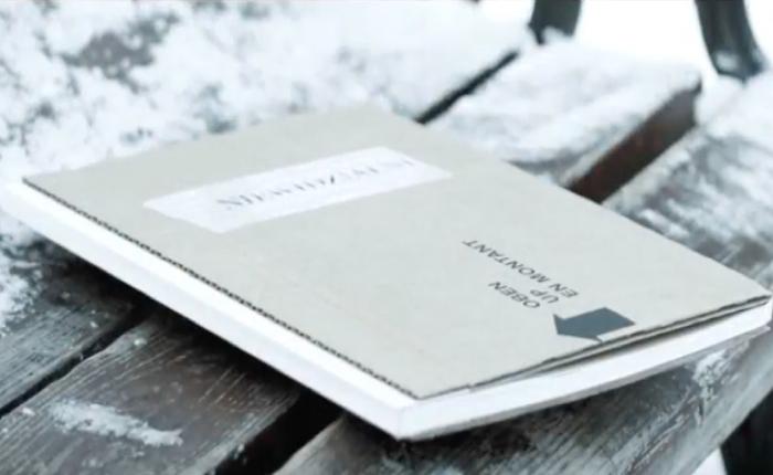 NGO ผลิตหนังสือที่อ่านได้เฉพาะหน้าหนาว ยืนอ่านริมถนนลมแรงๆ จะได้เข้าถึงหัวอกของคนไร้บ้าน