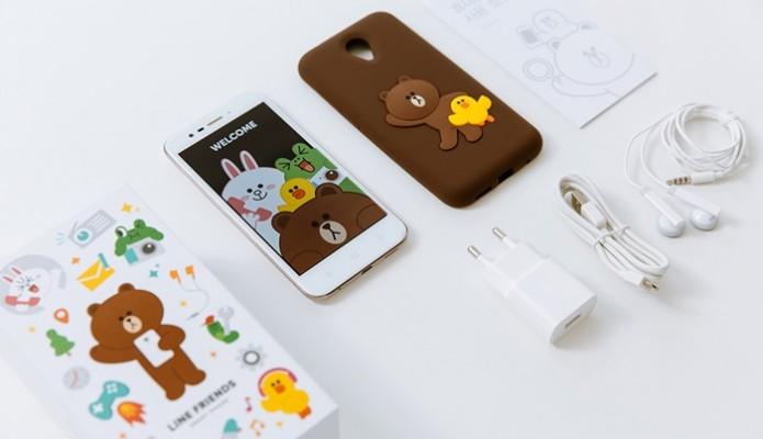 LINE เกาหลีใต้ เปิดตัวสมาร์ทโฟน Line Friends สุดคิ้วท์ ในราคาหลักร้อย