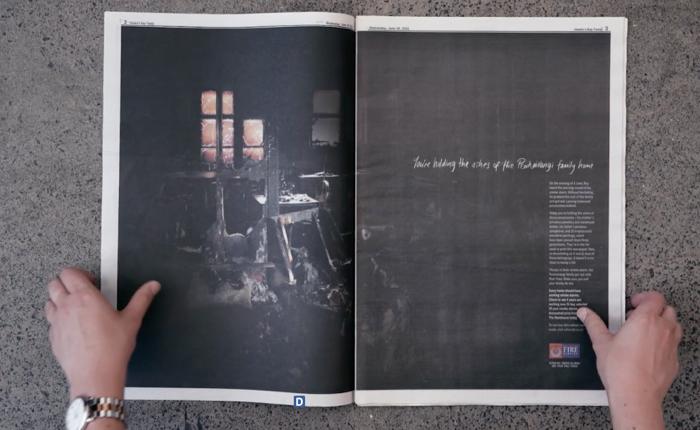 หน่วยกู้ภัยนิวซีแลนด์ เอาขี้เถ้าจากเหตุการณ์ไฟไหม้มาผสมในหมึกพิมพ์กลายเป็นโฆษณาที่สุดน่าจดจำ