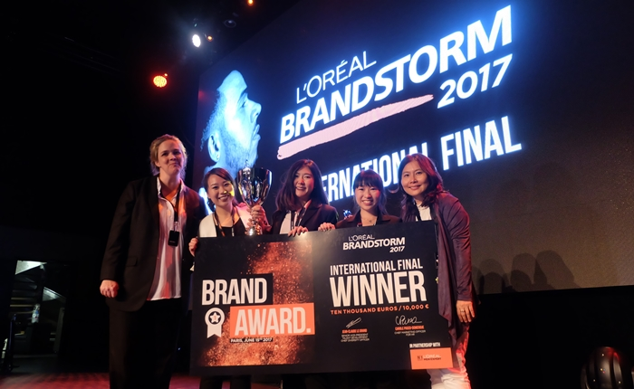 """นักศึกษาทีมไทยผงาด คว้าตำแหน่งแชมป์โลก """"ลอรีอัล แบรนด์สตอร์ม 2017"""" จากปารีส ครั้งแรกใน 14 ปี"""