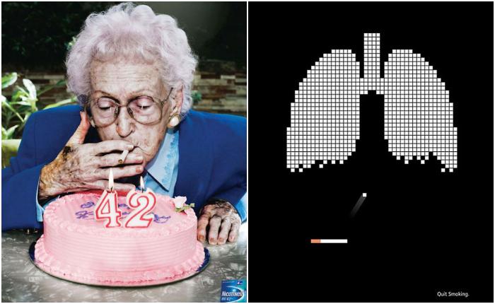 """ส่องกันเพลินๆ """"Print Ads รณรงค์เลิกบุหรี่"""" ไอเดียทรงพลังที่สร้างอิมแพคได้อย่างจัง"""