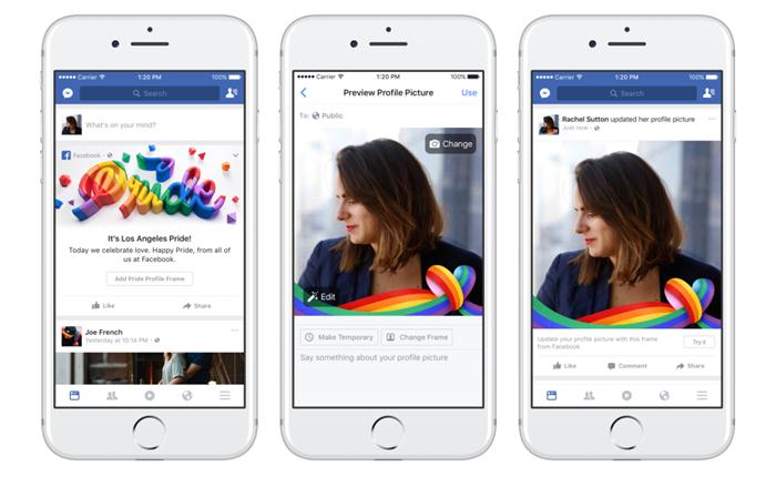 Facebook ร่วมสนับสนุนเดือนแห่งความหลากหลายทางเพศด้วย Reaction สายรุ้ง