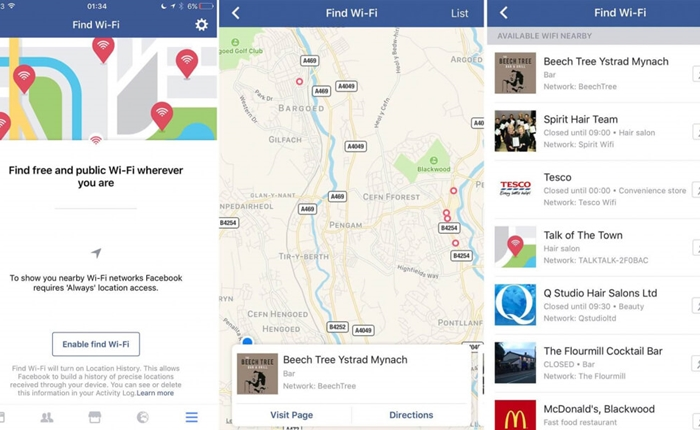 Facebook เปิดตัวฟีเจอร์ใหม่ ค้นหา WiFi ฟรีได้ทุกที่
