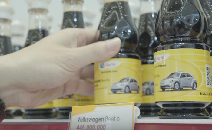 เว็บขายรถมือสองจากเวียดนาม ใช้วิธีใหม่หาลูกค้า แค่แทนที่รถแต่ละรุ่นด้วยของชำในซูเปอร์