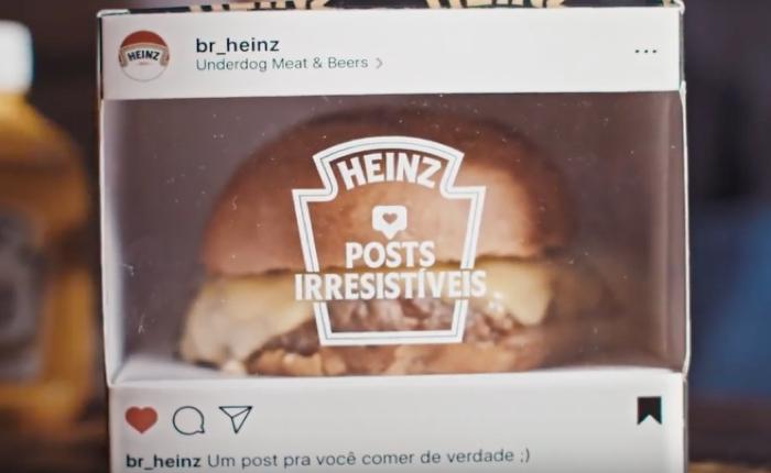 ซอส HEINZ เอาใจลูกค้าที่กดให้ใจใน IG ด้วยการเสิร์ฟเบอร์เกอร์ร้อนๆ จากจอถึงมือคุณ