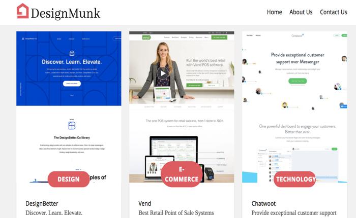 designmunk.com ศูนย์รวมสุดยอดดีไซน์ของเว็บไซต์หลากประเภท