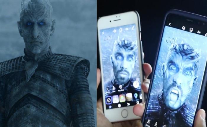 เฟซบุ๊กอัดกระแส Game of Thrones โค้งสุดท้ายซีซั่น 7 ส่งฟิลเตอร์กล้องถ่ายรูป The Night's King ให้แฟนทั่วโลกได้แช๊ะ+แชร์ สร้าง Buzz