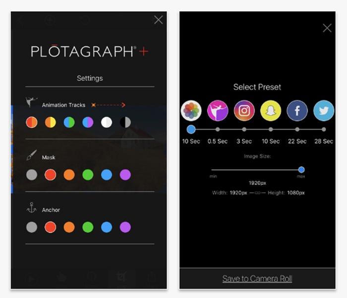 เครื่องมือตกแต่งภาพนิ่ง ให้เคลื่อนไหวได้ของ Plotagraph+