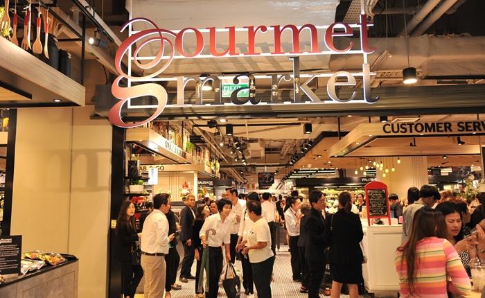 """เปิดแล้ว ซูเปอร์มาร์เก็ตแห่งแรกในสถานีรถไฟฟ้า MRT สถานีลาดพร้าว """"กูร์เมต์ มาร์เก็ต"""""""