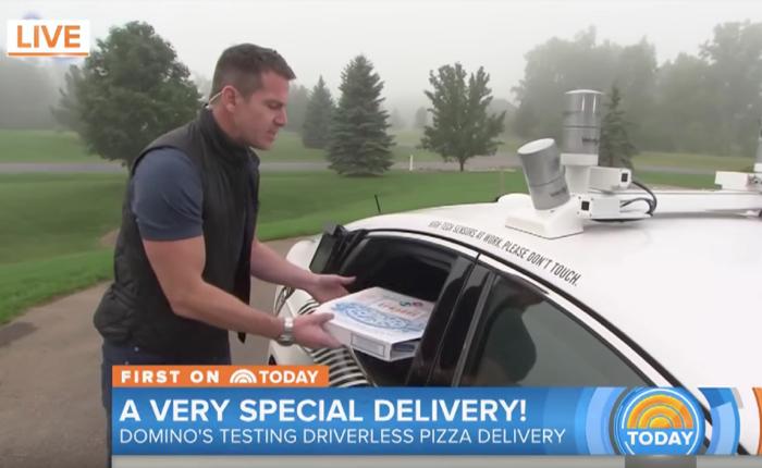 Domino pizza ล้ำหน้าอีกแล้ว! จัดรถฟอร์ดไร้คนขับส่งพิซซ่าถึงบ้านลูกค้า