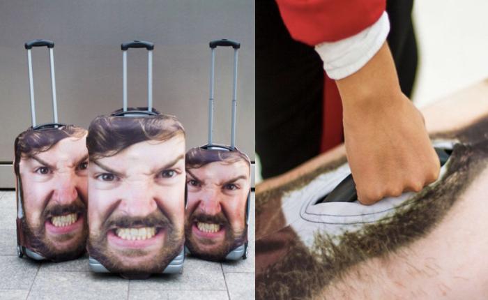 ปัญหาหยิบกระเป๋าผิด เป๋าหาย แก้ได้ด้วยการปริ้นท์รูปหน้าโหดๆ ของคุณติดกระเป๋าซะเลย!