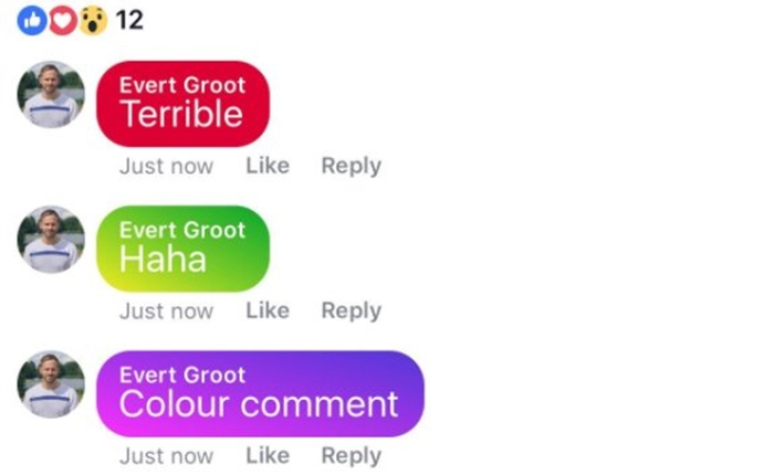 เพิ่มสีสันให้ผู้ใช้ Facebook เริ่มทดสอบการคอมเม้นท์ด้วยพื้นหลังสีต่างๆ