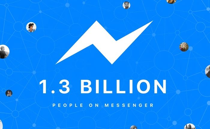 Facebook Messenger มียอดผู้ใช้แตะ 1,300 คนต่อเดือนแล้ว