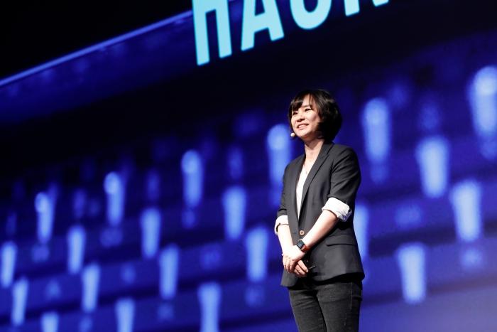 Ms.Park Eui-vin CTO of LINE Corp