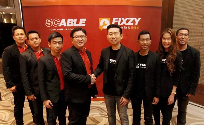 """เอสซี เอเบิล จับมือ """"ฟิกซิ"""" นำแอปพลิเคชันรวบรวมสารพัดช่างอันดับหนึ่งของไทย รุกขยายฐานลูกค้ากลุ่มคนทำงาน"""