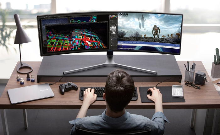 Samsung CHG90 QLED Monitor ครั้งแรกของซัมซุงที่รวมการเล่นเกมเข้ากับการทำงานกว้างเหนือชั้น มันส์ทะลุจอด้วยหน้าจอ