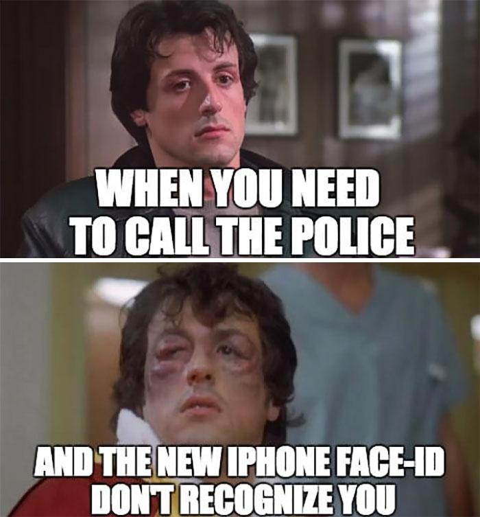 เมื่อมีเรื่องด่วนต้องโทรแจ้งตำรวจ แต่ iPhone X สแกนหน้าไม่ได้...