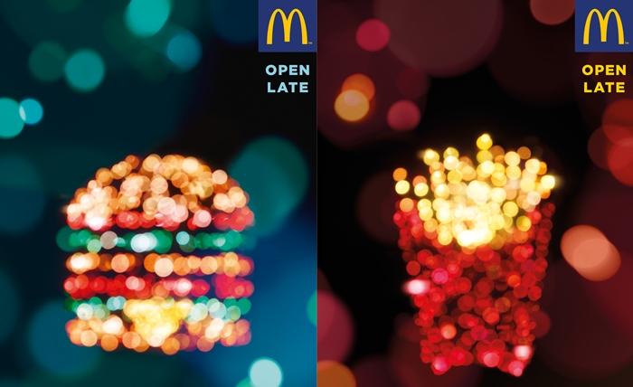 Print Ads สุดระยิบระยับจาก McDonald's เติมเต็มความหิวในยามดึก