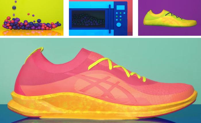 Asics โชว์นวัตกรรมการผลิตรองเท้าทันใจ แค่ใส่ไปในไมโครเวฟ 15 วินาทีก็หยิบมาใส่ได้เลย