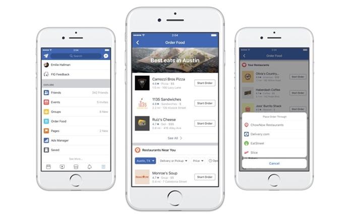 Facebook ลุยธุรกิจอาหารเดลิเวอรี่ พร้อมจัดส่งทันทีในแอปฯ เดียว