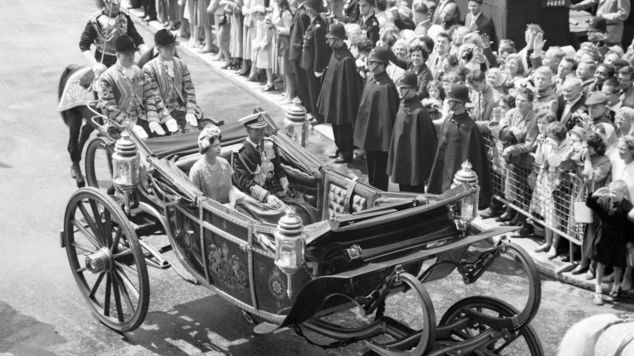 The King during a state visit to London in 1960