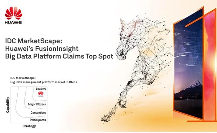 หัวเว่ยคว้าอันดับ 1 แพลตฟอร์มบิ๊กดาต้า จากผลสำรวจ IDC MarketScape ในตลาดจีน