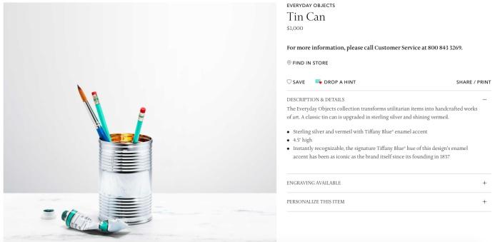 """นี่คือ Tin Can กับราคาขาย """"1,000 เหรียญสหรัฐ"""""""