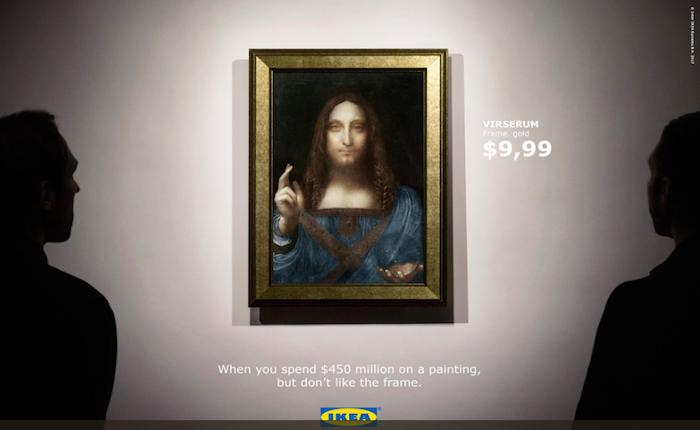 IKEA หยอกล้อได้เข้าเทรนด์! รูปดาวินชีแม้แพงเป็นหมื่นล้าน แต่กรอบสวยๆ ที่เข้าท่ากว่าก็แค่หลักร้อยเท่านั้น!