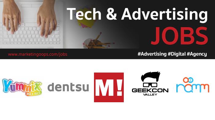 งานล่าสุด จากบริษัทและเอเจนซี่โฆษณาชั้นนำ #Advertising #Digital #JOBS 02 – 08 Dec 2017