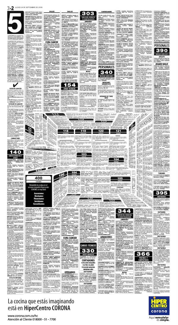 Felipe-Salazar-Karen-Castaneda-Cocinas-Corona-HiperCentro-Optical-Illusion-Newspaper-Ad-2