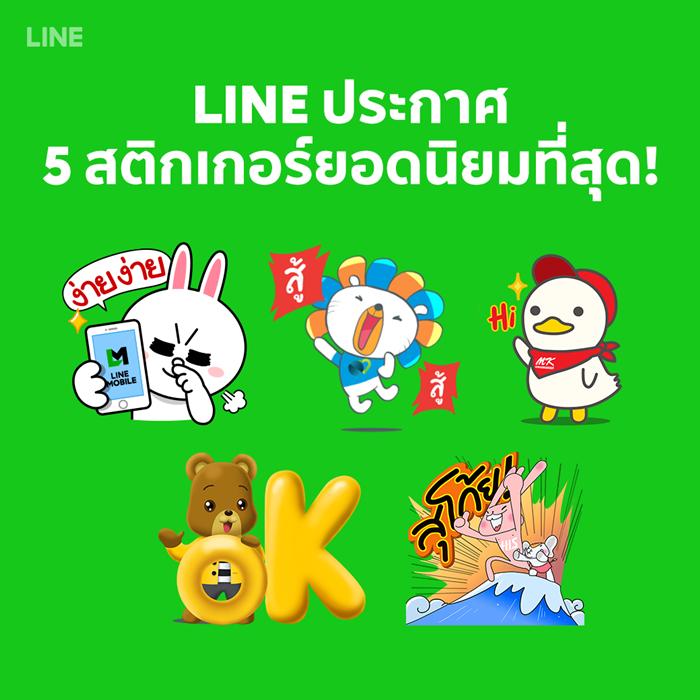 LINE Most Populat Stickers