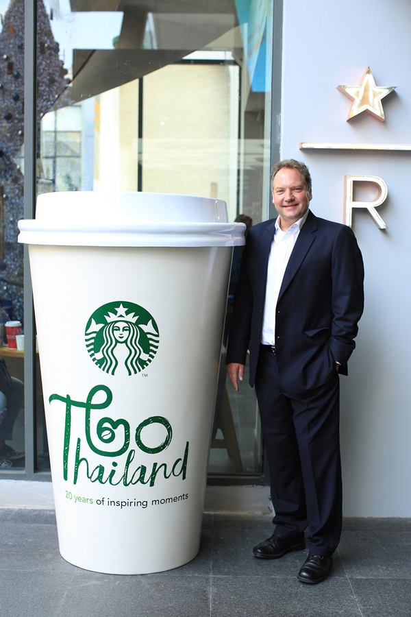 Murray Darling_MD Starbucks Coffee Thailand with giant cup
