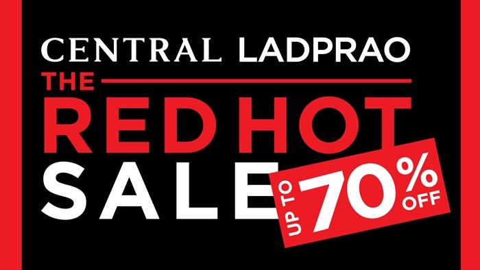 """ช้อปฯ ต้อนรับปีใหม่ ในมหกรรมงานเซลครั้งใหญ่ส่งท้ายปี ที่งาน """"Central Ladprao The Red Hot Sale up to 70% off"""""""