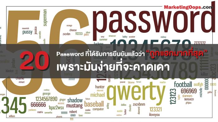 """ส่งท้ายปลายปีกับ 20 Password ที่ได้รับการยืนยันแล้วว่า """"ถูกแฮกมากที่สุด"""" เพราะมันง่ายที่จะคาดเดา"""