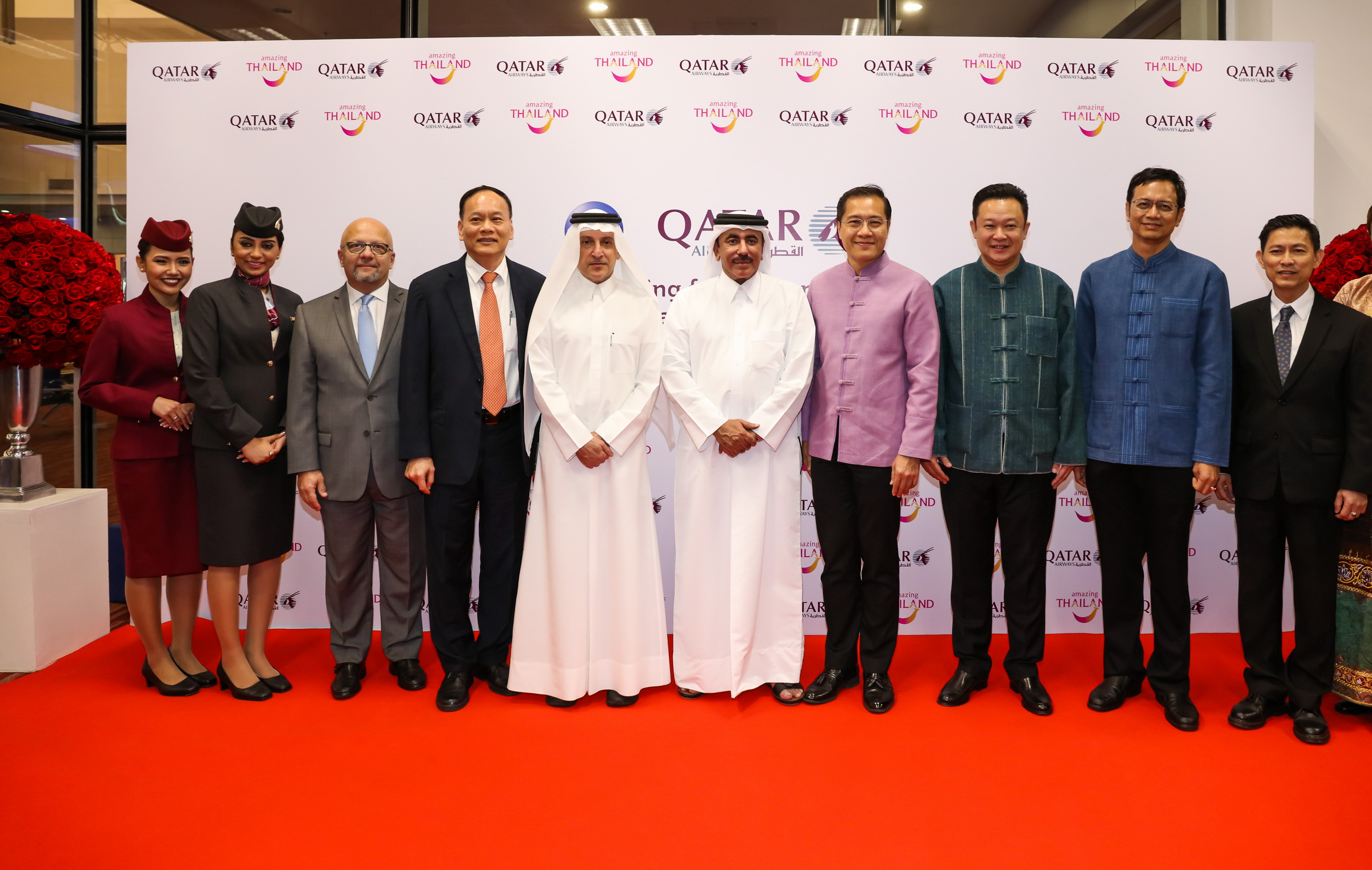 Qatar Airways_group photo