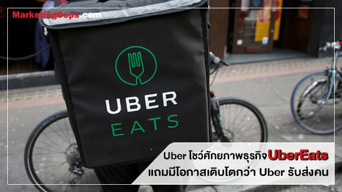 Uber โชว์ศักยภาพธุรกิจ UberEats แถมมีโอกาสเติบโตกว่า Uber รับส่งคน