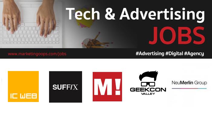 งานล่าสุด จากบริษัทและเอเจนซี่โฆษณาชั้นนำ #Advertising #Digital #JOBS 23 – 29 Dec 2017